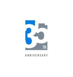 35 th anniversary celebration logo template design vector