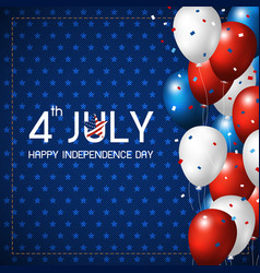 4 july happy independence day design vector image