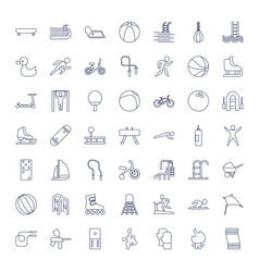 49 activity icons vector
