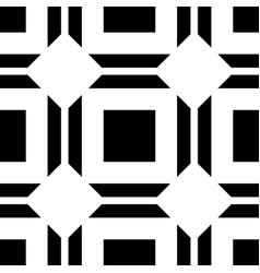 Abstract art deco black geometric ornamental vector