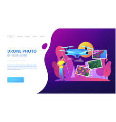 Aerial photography concept landing page vector