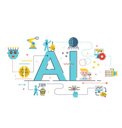 ai artificial intelligence concept vector image
