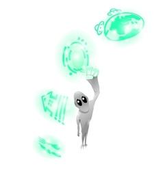 alien on white background vector image