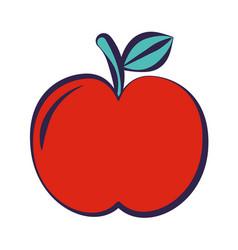 apple fruit on white background vector image