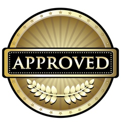 Approved Gold Label vector image