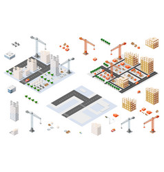 Architectural set isometric vector