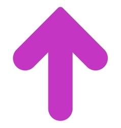 Arrow Up flat violet color icon vector