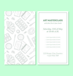 art masterclass banner template painter tools vector image
