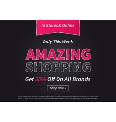 Banner Amazing Shopping on vector