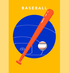 baseball game sport poster vector image