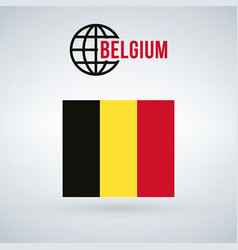 Belgium flag isolated on modern background with vector