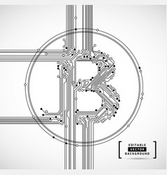 bitcoin abstract business background vector image