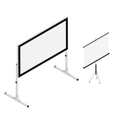blank white realistic projector screens vector image