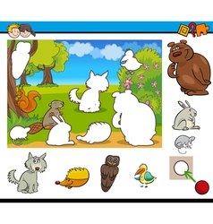 Cartoon game for kids vector