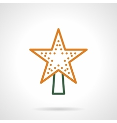 Christmas tree topper color line icon vector