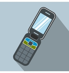 Clamshell handphone flat icon vector image