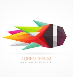 Colorful abstract logo with letter I vector