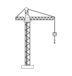 crane hook construction machine outline vector image