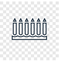 crayon concept linear icon isolated on vector image