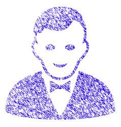 Croupier manager icon grunge watermark vector