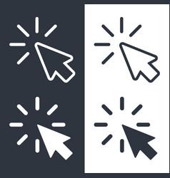 cursors set vector image