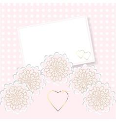 Delicate invitation card vector image