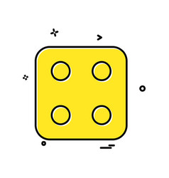 Dice icon design vector
