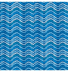 Dotted waves abstract blue dotted pattern vector image