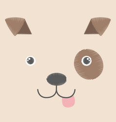 Embroidery of brown toy dog vector