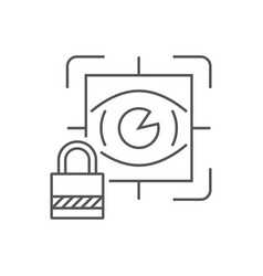 eye scan security concept line icon for web vector image