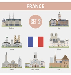Famous places cities in france vector