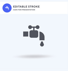 faucet icon filled flat sign solid vector image