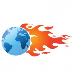 flaming world vector image