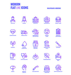 Flat line gradient icons design-healthcare and vector
