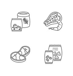 food store categories pixel perfect linear icons vector image