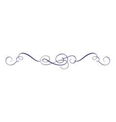 hand drawn calligraphic spring flourish vector image