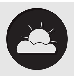 Information icon - partly cloudy vector