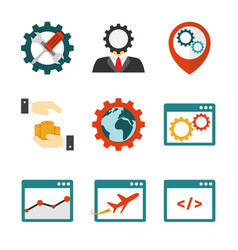 Internet marketing flat icons vector