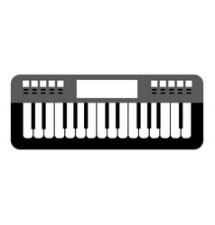 Isolated keyboard musical instrument vector