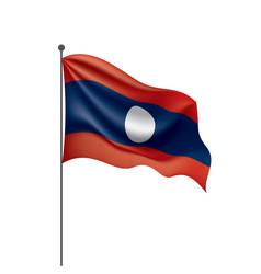 Laos flag on a white vector