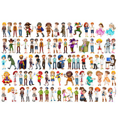 Large set different people vector