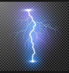 lightning magic and bright light effects isolated vector image