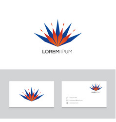 logo brand icon business card template vector image