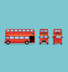london double decker red bus cartoon vector image
