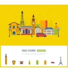 London United Kingdom and France design travel vector