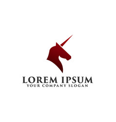 luxury unicorn logo design concept template vector image