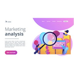Marketing research concept landing page vector