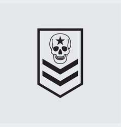 military symbols military rank icon vector image