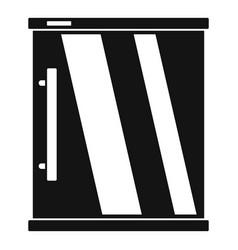 mini refrigerator icon simple style vector image