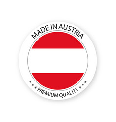 Modern made in austria label austrian sticker vector